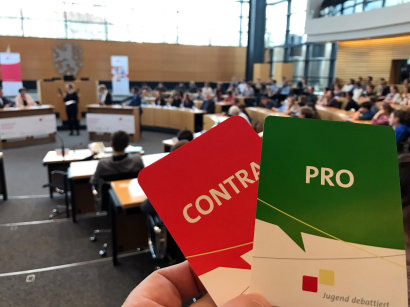 Jugend debattiert im Thüringer Landtag