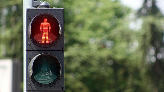 rote Ampel für Fußgänger