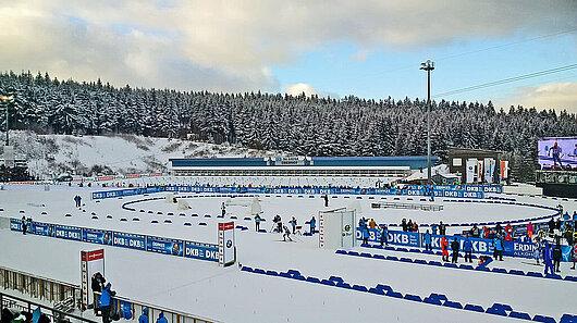 Das Biathlonstadion in Oberhof