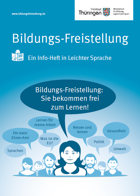 COver der Broschüre Bildungs-Freistellung in Leichter Sprache
