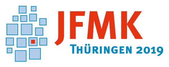 Logo der JFMK: stilisierte Darstellung der Bundesländer
