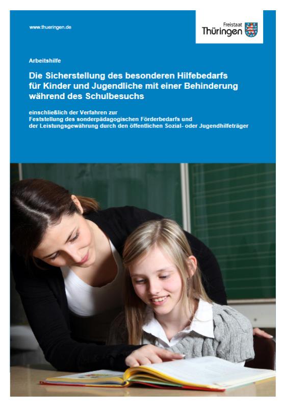Cover: Arbeitshilfe, Lehrerin liest mit Schülerin ein Buch