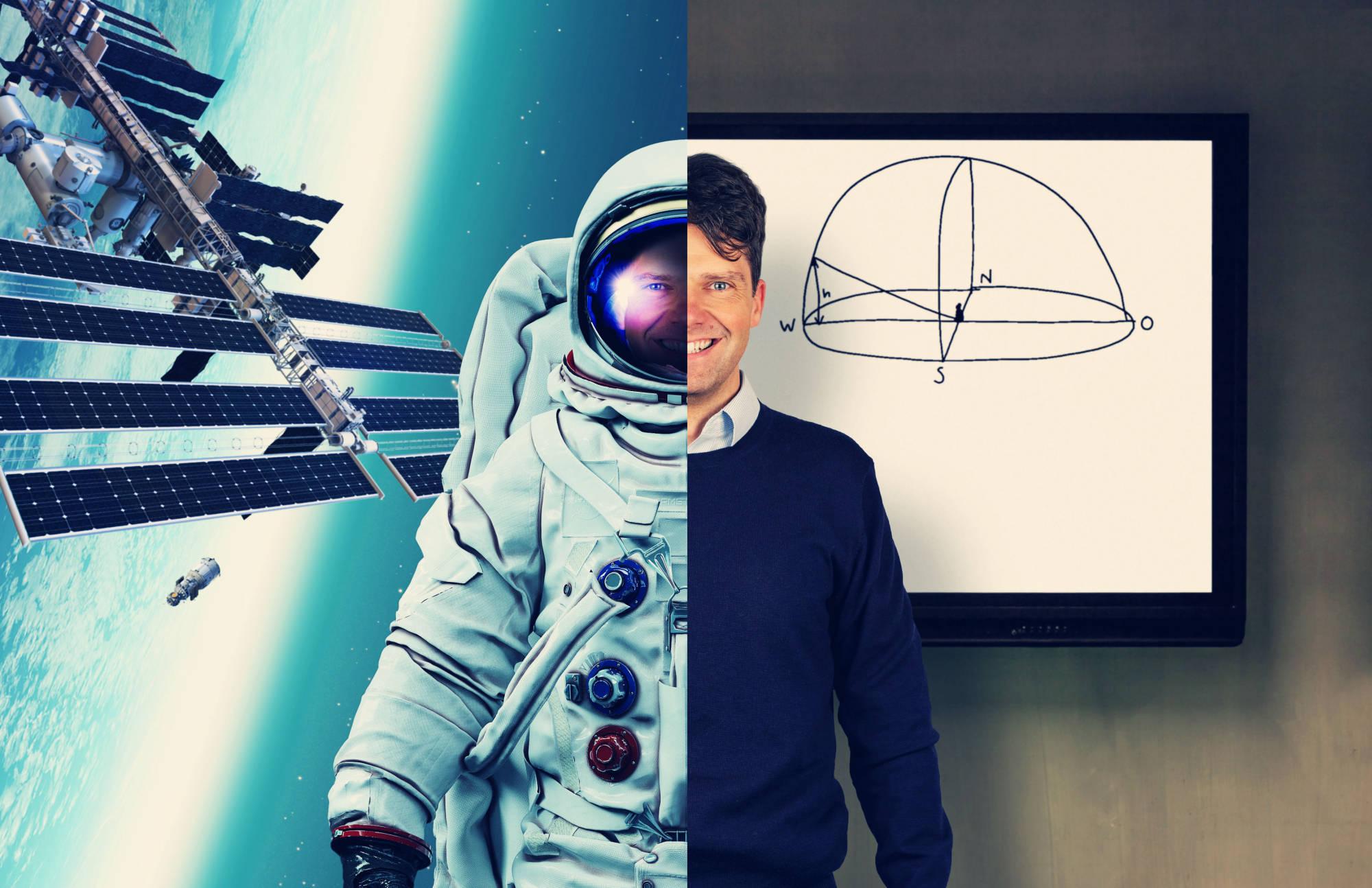 ein Astronaut und ein Astronomielehrer