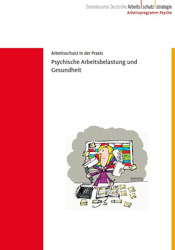 Cover der Broschüre: Zeichnung einer gestressten Kollegin