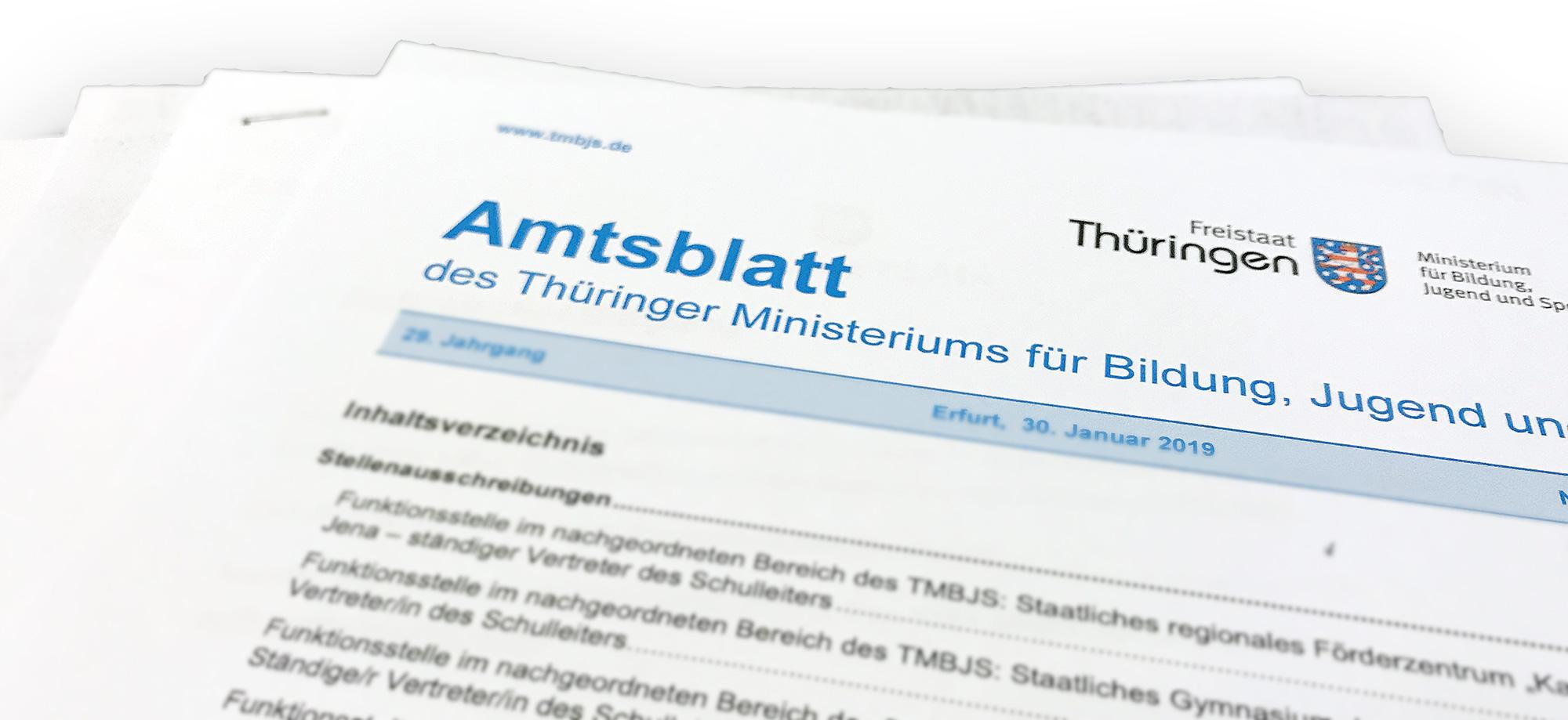 Foto vom Amtsblatt