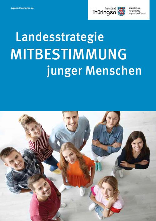 Cover Landesstrategie mit jungen lachenden Menschen