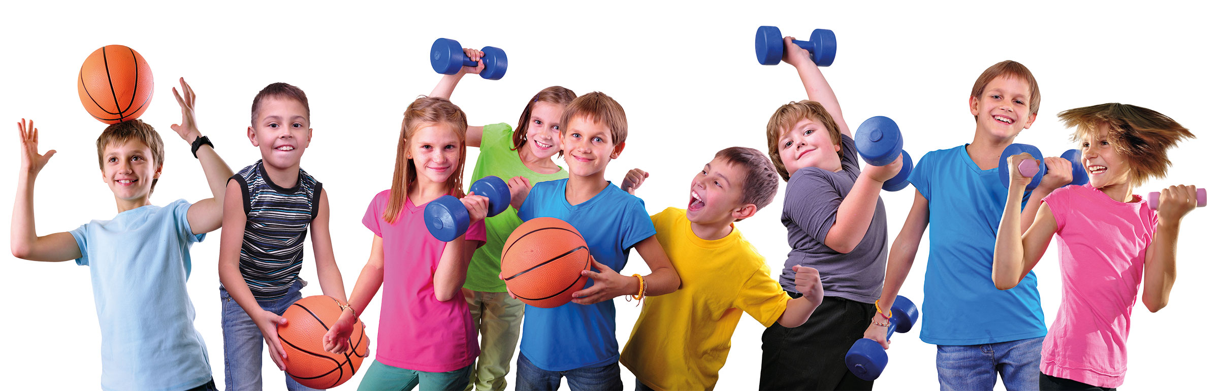 Kinder bei verschiedenen Sportarten