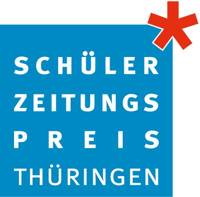 Logo Schülerzeitungspreis mit rotem Stern
