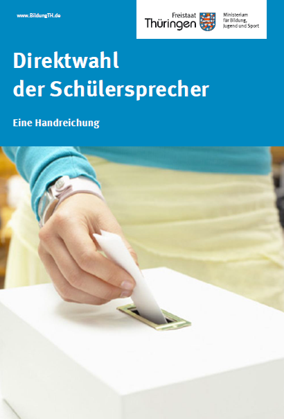 Cover:  Hand, die einen Wahlzettel in eine Wahlurne wirft