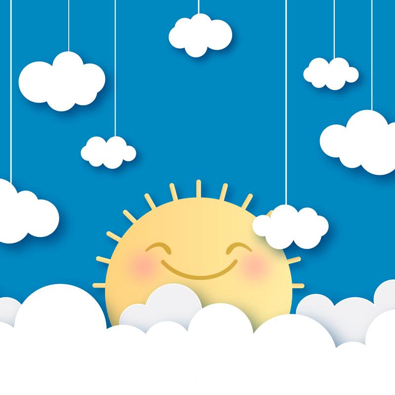Ferien: Sonne und Wolken